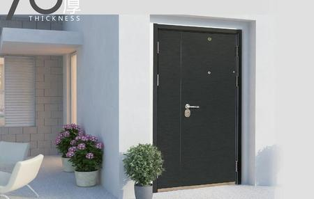 Fire-proof  Anti-theft door J7001H