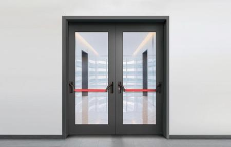 German glass fire door