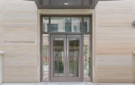 German glass Building door GD09N